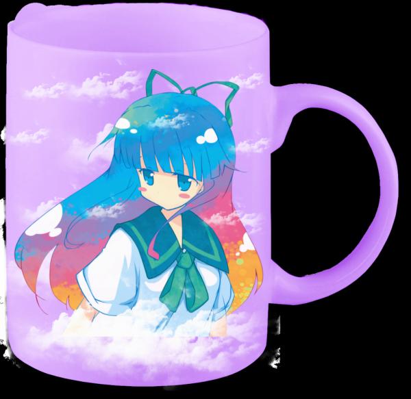 Render mug fille cheveux multicolor
