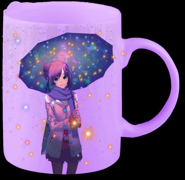 Render mug Fille au parapluie