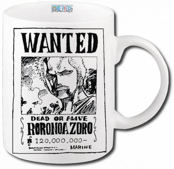Render mug One Piece wanted Roronoa Zoro