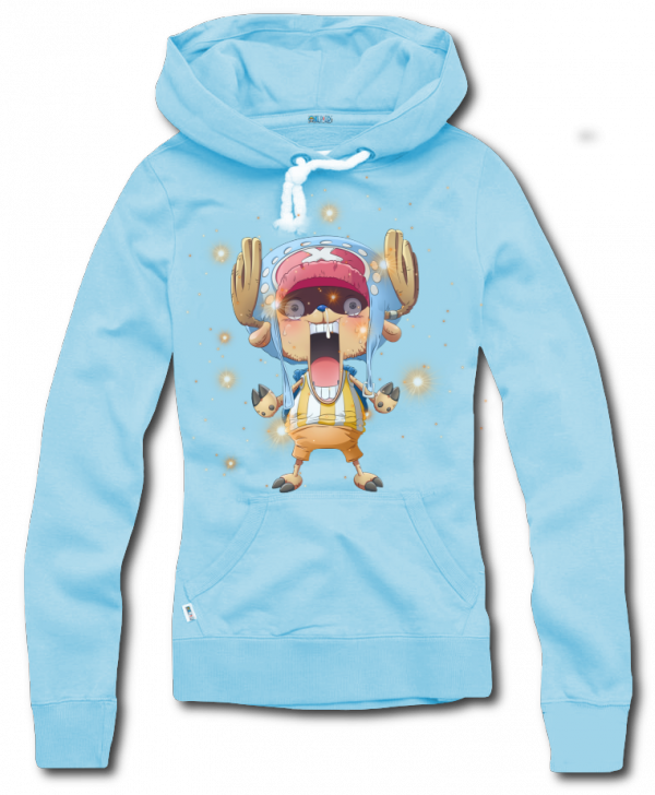 Render Sweat a capuche bleu Tony chopper
