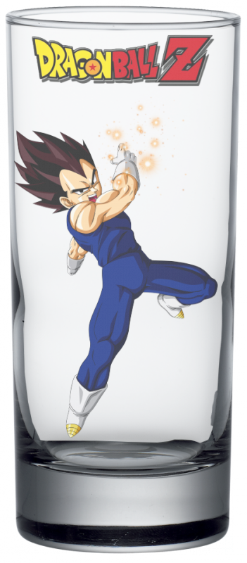 Render verre Dragon Ball Z Végeta
