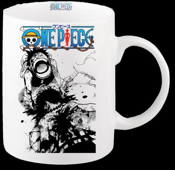 Render mug One Piece Luffy pleure la mort de son frère Ace