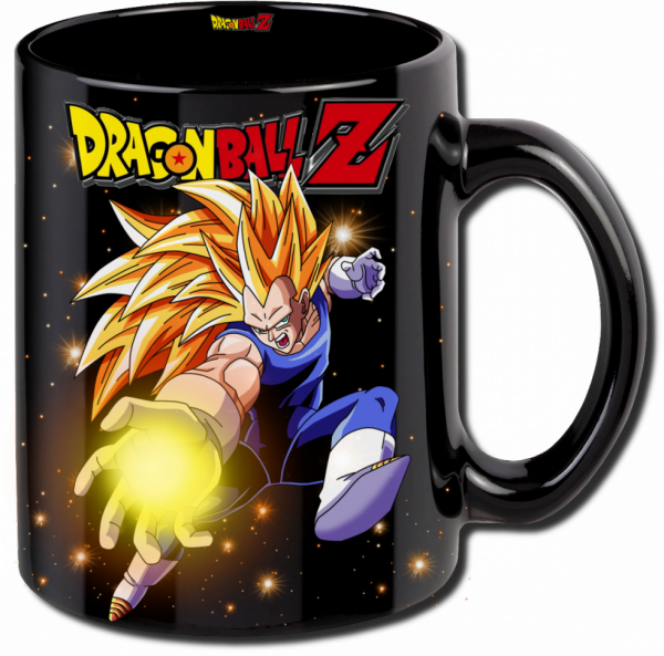 Render mug Dragon Ball Z Vegeta super sayen 3
