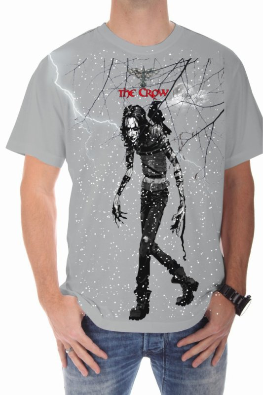 Tee shirt gris homme The Crow Eric Draven