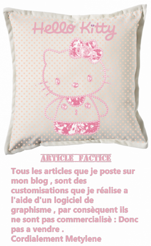 Renders coussin blanc Hello Kitty