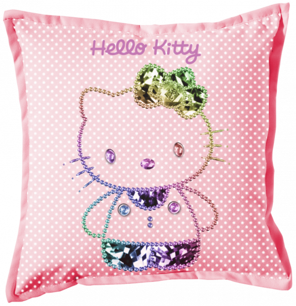 Renders coussin rose Hello Kitty multicolor