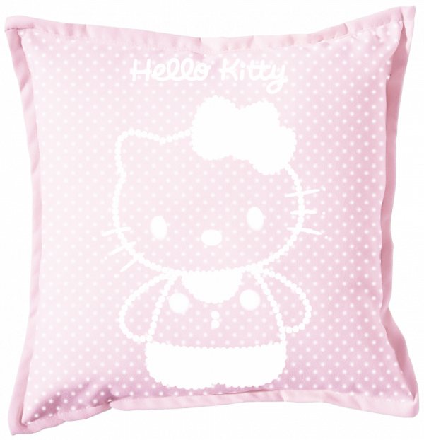 Renders coussin rose Hello Kitty perle blanche