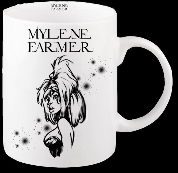 Renders mug blanc Mylene Farmer