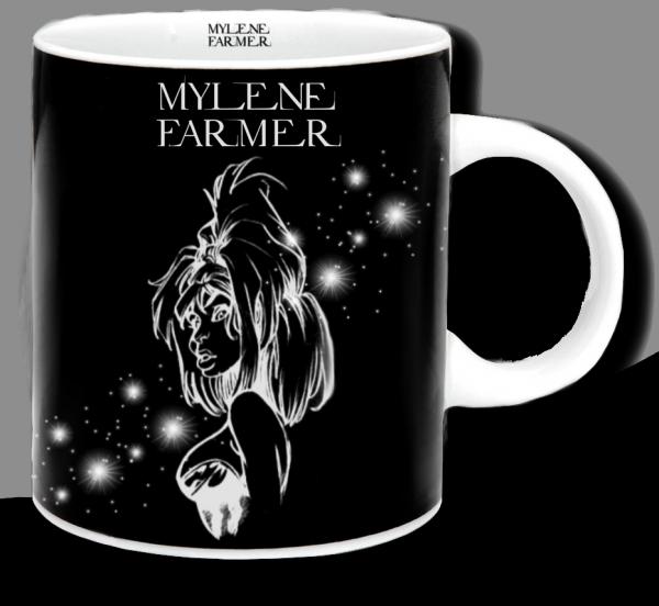 Renders mug noir Mylene Farmer
