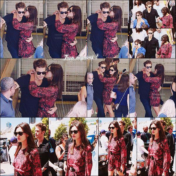 11/07/2015 : Phoebe Tonkin était en compagnie du beau Paul Wesley alors qu'ils étaient au SDCC.  Phoebe et Paul plus amoureux que jamais ont été vus ensemble enlacés alors qu'ils étaient au Comic-Con à San Diego