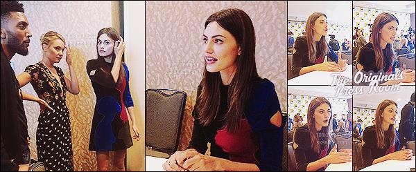 COMIC CON 10/07/2015 : → Phoebe et le cast de The Originals ont passé la journée au C-C ! La jolie Phoebe s'est rendue afin de participer à plusieurs événements : elle a été aperçue lors de son arrivée puis a eu lieu des rencontres avec des journalistes, des fans et aussi le fameux Panel de la série TO, des vidéos disponibles à la fin de cet article !