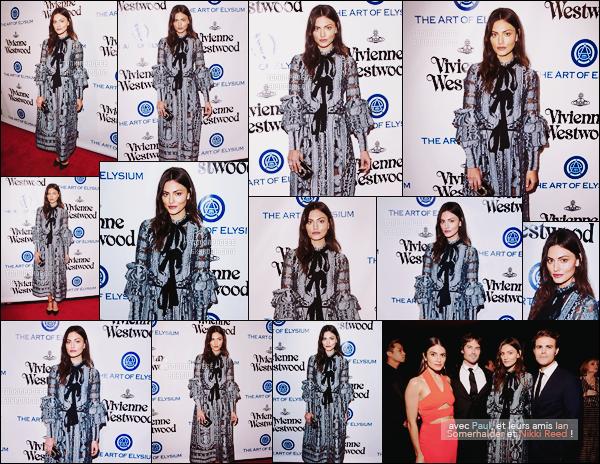 • Apparition publique - 09/01/2016 : Phoebe a assisté au Art of Elysium Heaven Gala à Los Angeles. Elle était accompagnée de Paul Wesley et portait pour l'occasion une robe Erdem de la collection Printemps 2016. Vraiment sublime !