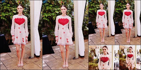 • Apparition publique - 26/02/2016 : Notre Phoebe Tonkin  s'est à nouveau rendue au Chateau Marmont. Miss Tonkin a assisté à l'événement « NET-A-PORTER Celebrates Women » toujours à West Hollywood. Nous avons très peu de photos!