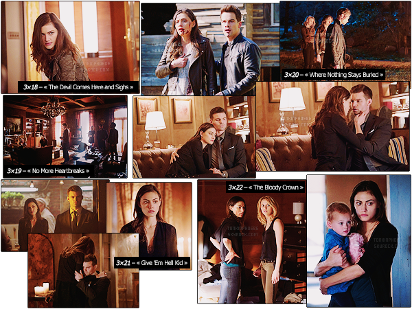 THE ORIGINALS : → Découvrez les stills de la fin de saison de la saison 3 de The Originals Retrouvez Phoebe dans la peau de Hayley, une maman hybride tentant de protéger sa fille de leurs ennemis toujours présents