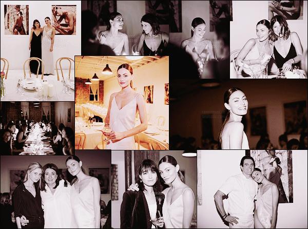 • Apparition publique  - 09/05/2016 : Phoebe  participait au dîner privé de la marque « Matteau Swim »  Phoebe était l'invitée d'honneur, en effet, elle est l'égérie de la marque ! On retrouve plusieurs de ses clichés sur les murs ...