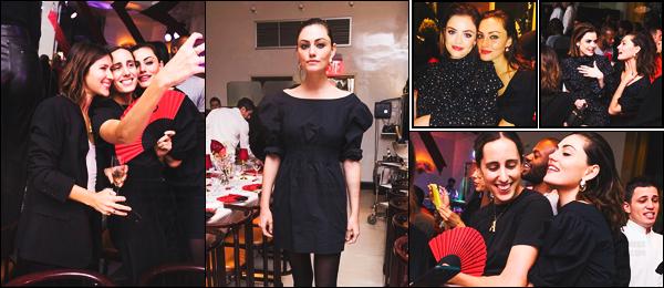 10 février 2018 ─ Phoebe Tonkin était présente au dîné du 5ième anniversaire de la marque « Frame », à New York. Lors de l'événement nous avons plus apercevoir la belle brune au côté de l'actrice connue pour le rôle d'Aria dans pll, Lucy Hale. Je lui offre un top !
