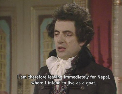 You can always rely on british television.