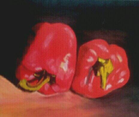 LES POIVRONS (Acrylique ) par Evelyne CACITTI