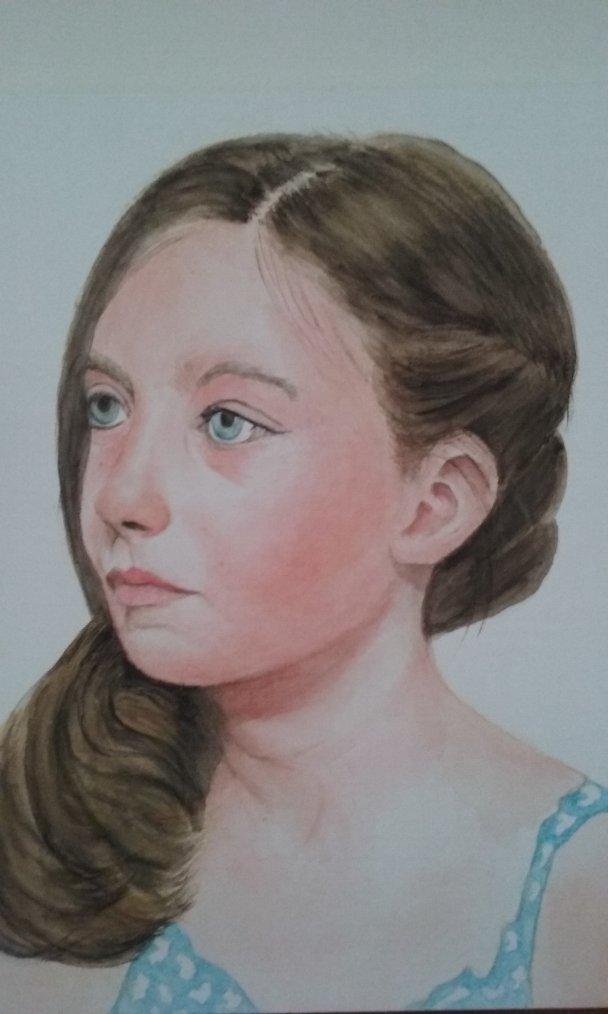 MARIE (AQUARELLE) par Evelyne CACITTI