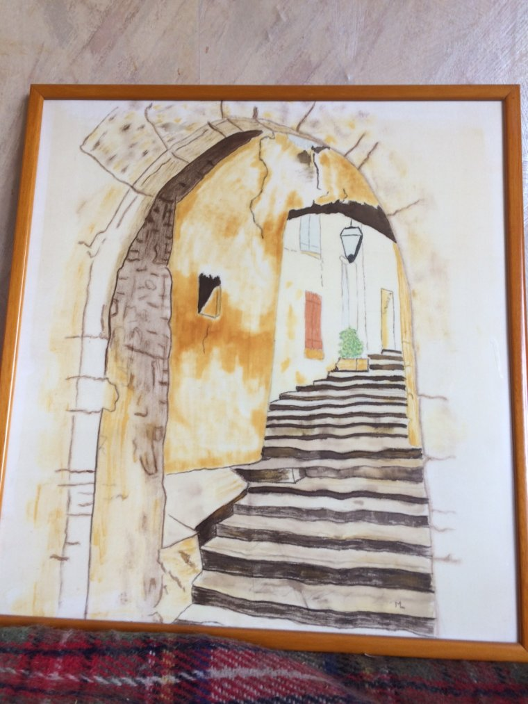 Dédales en Provence ( Peinture sur soie ) par MARTINE