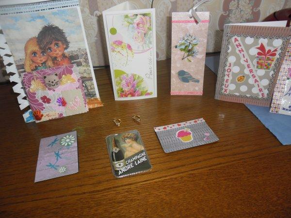 bonjour mon amie roselyne je te remercie beaucoups pour ces magnifiques cadeaux je m'attendait pas a avoir des boucles d'oreilles j'ai était très heureuse je t'envoie des gros bisous du coeur