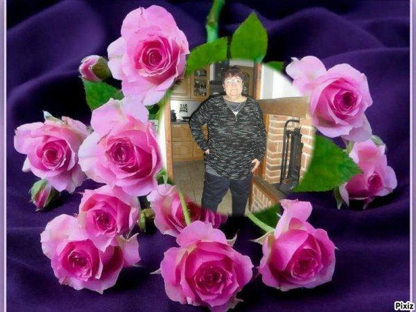 bonsoir mon amie CAPUCINE55500 pour ce sublime cadeau avec c'est jolies roses que j'aime beaucoup je te souhaite une très bonne semaine ainsi qu'un bon lundi et je t'envoie des milliers de gros bisous