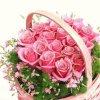 bonjour mon amie coeur-445 pour ce magnifique panier de roses rose elle sont super jolie je t'envoie des milliers de gros bisous