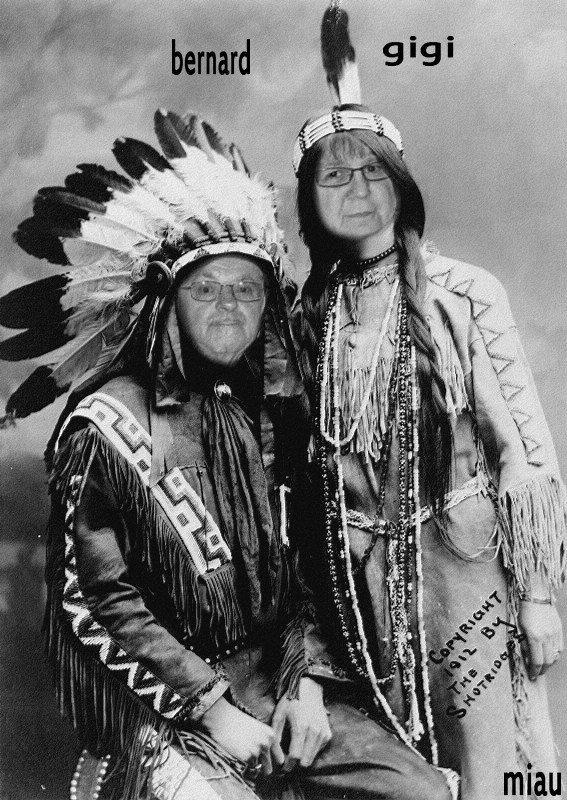 bonsoir mon amie miau88300 j'ai bien rigoler quand je me suis vue en indienne et mercie beaucoup pour ce magnifique cadeau et oui sa lui vas bien mon mari d'ètre un apache il est mon cheval j'espère que tu vas bien moi je vais bien mon mari vas mieux mais il a encore du kiné a faire je te fais tout plein de gros bisous du coeur