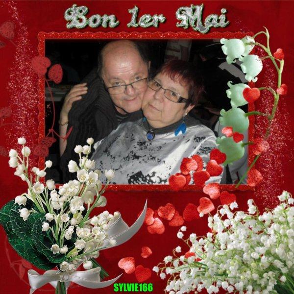 bonjour mon amie sylvie166 un grand mercie pour ce magnifique cadeau du 1er Mai cela ma fait très plaisir j'espère que tu vas bien  en ce mardi nous avons du soleil et sa fait du bien au coeur je te souhaite une très belle après-midi et je t'envoie des milles bisous