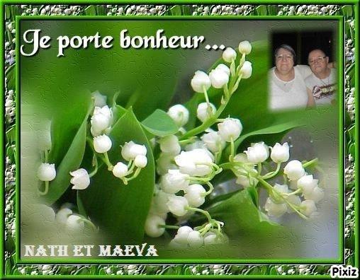 bonjour mon amie Ulineet Maéva mercie pour ce magnifique cadeau du 1 er Mai je l'adore j'espère que la santé sa vas je te souhaite un bon week-end je tenvoie des milles bisous