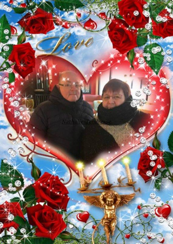 bonsoir mon amie Nathalie-Tendresse un grand mercie pour ce magnifique cadeaux de la ST Valentin et oui c'est demain et en plus ont vas fèté l'anniversaire de ma Belle-Mère elle vas avoir 86 ans je te souhaite une très belle soirée et je t'envoie tout plein de gros bisous