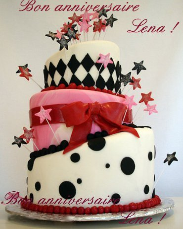 Joyeux anniversaire Lena !