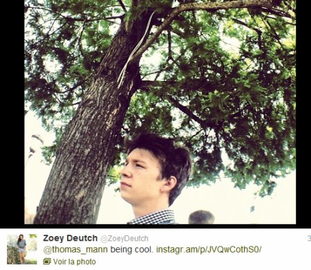 Zoey, Thomas et Emmy twitter + Jeremy Irons et la moto