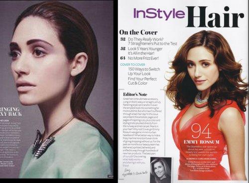Emmy Rossum pour Instyle Hair pringtemps 2012