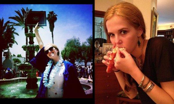 Photos de Zoey Deutch pendant le tournage du film et chez elle