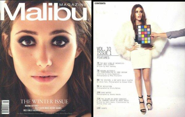 Photoshoot d'Emmy pour Malibu Magazine en janvier 2012