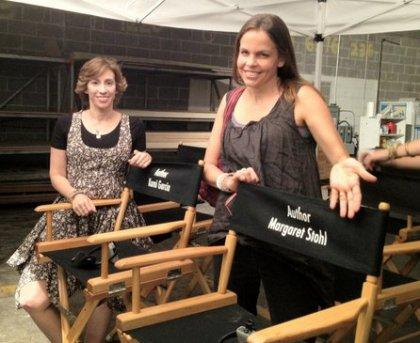 Margaret et Kami sur le tournage
