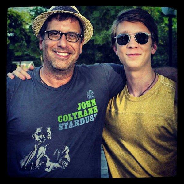 Photo de tournage : Le directeur et Thomas Mann