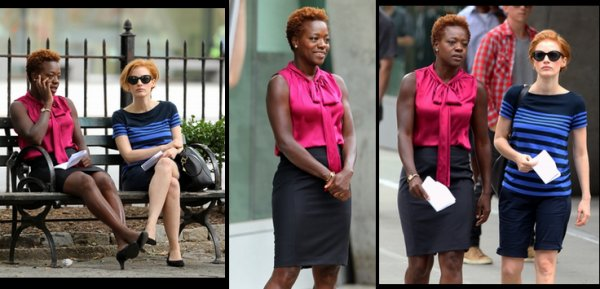 "Viola Davis en plein tournage de ""The Disappearance of Eleanor Rigby"" + projection de ""Won't Back Down en août 2012"""