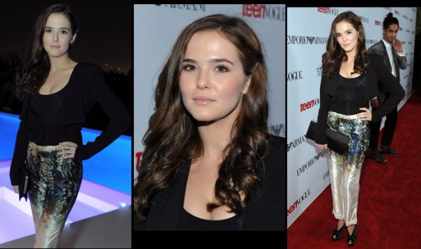 Zoey Deutch le 27/09/12 Teen Vogue's Young Hollywood Party