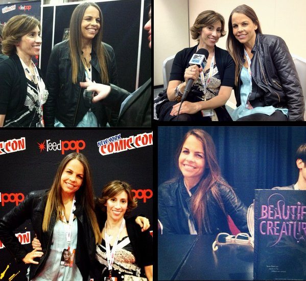 Margaret et Kami au Comic Con de New York le 12 octobre 2012