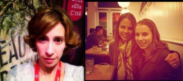 Les auteurs au 7ème Festival de Rome le 13 novembre 2012