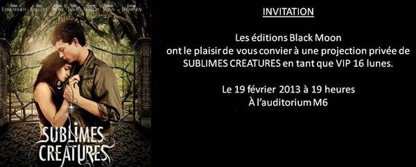 La projection privée de Sublimes Créatures le 19 Février 2013 à Paris + article que j'ai écrit