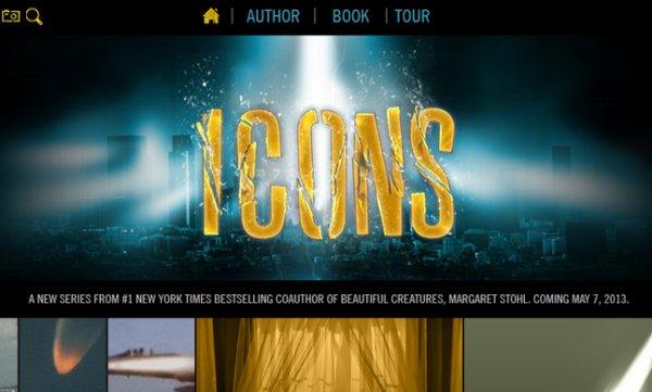 Le site officiel de la série Icons de Margaret Stohl