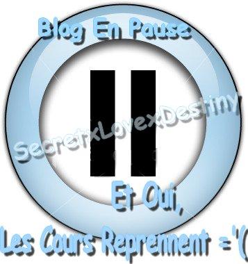 Les Cours Reprenne Je N'Aurais Plus Assez De Temps Pour Bien M'Occupé De Mon Blog.