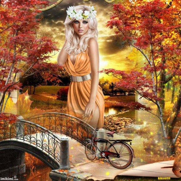 L'automne et les belles couleurs chaudes