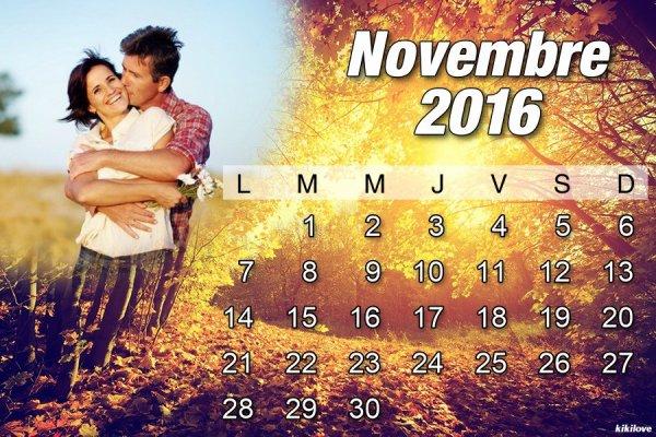 Bonjour mois de Novembre