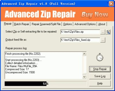 Advanced Zip Repair