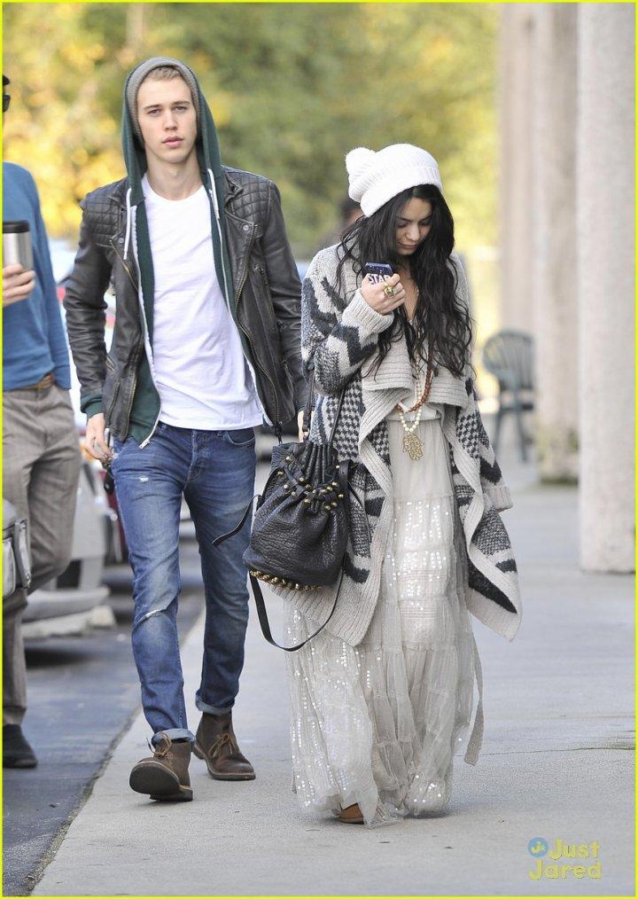 Vanessa et Austin le 1er janvier 2013 .