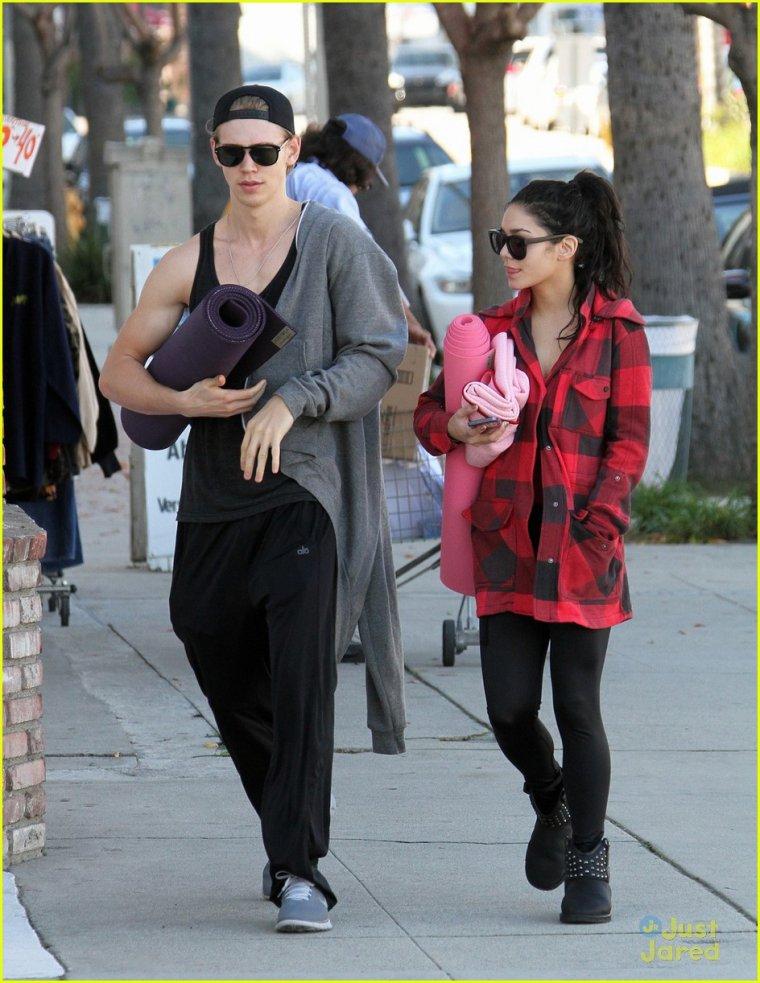 Vanessa et Austin le 2 janvier 2013 .